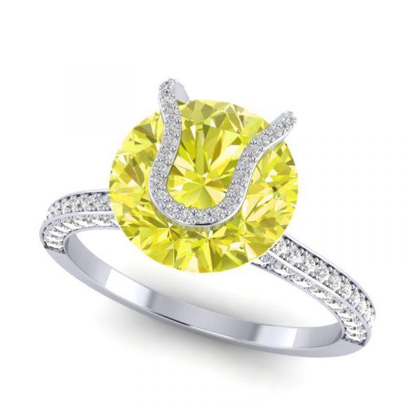 wimbledon tennis inspired engagement ring