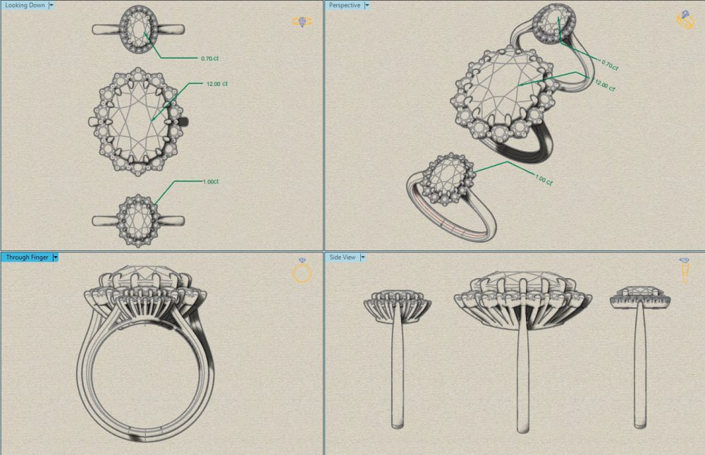 kate middleton engagement ring sketches
