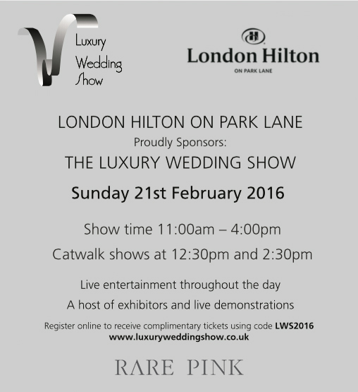luxury wedding show london hilton park lane