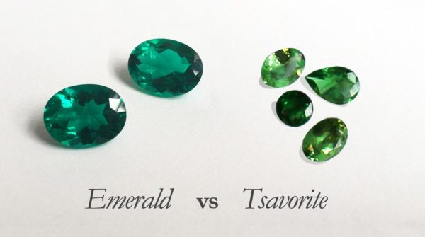 Emeralds and tsavorites