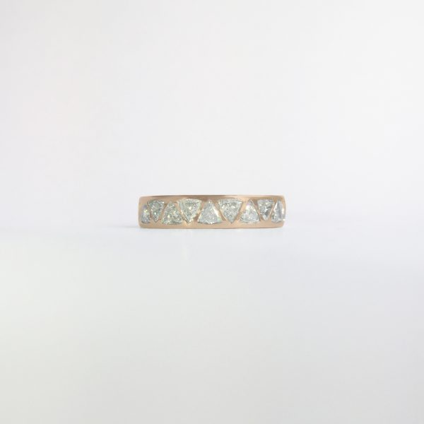 rose gold triangle band