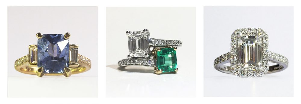 emerald diamond rings