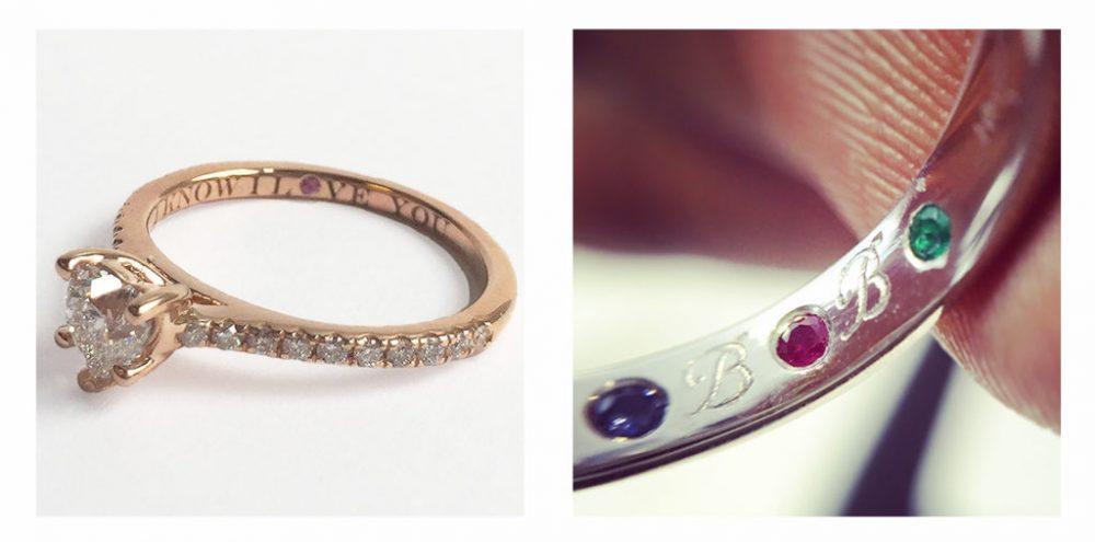 gemstone ring engravings