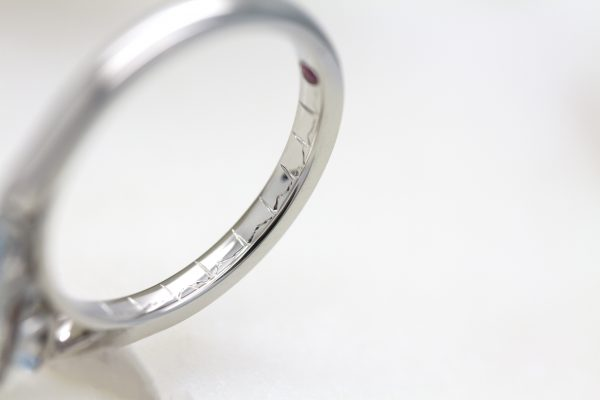 heartbeat engraving ring
