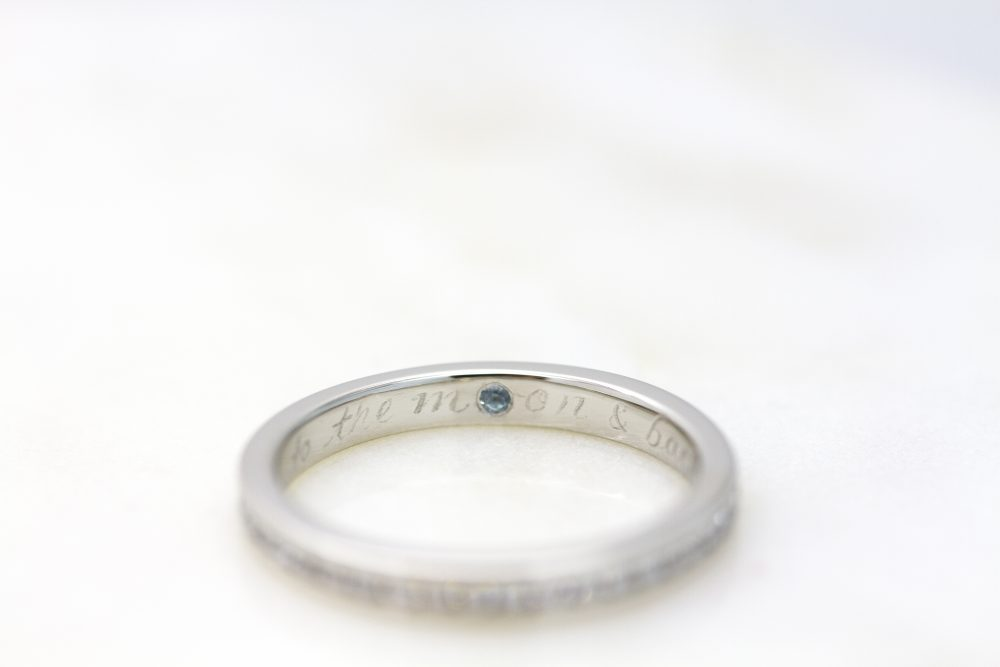 ring engraving with gemstone