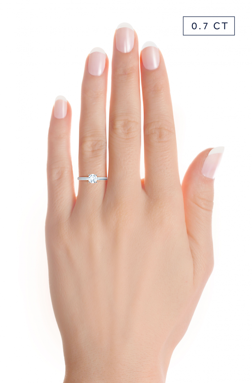 0.7ct diamond on hand