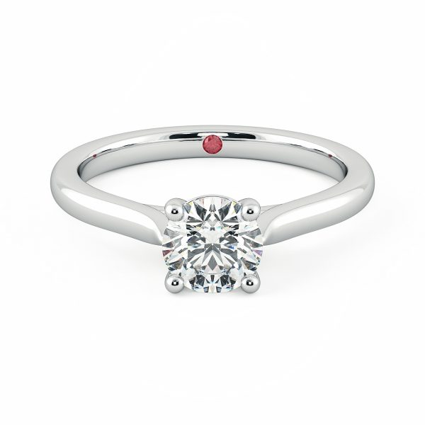 round four claw diamond solitaire engagement ring