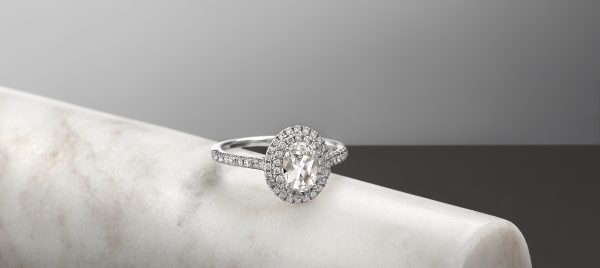 oval diamond engagement ring with double halo