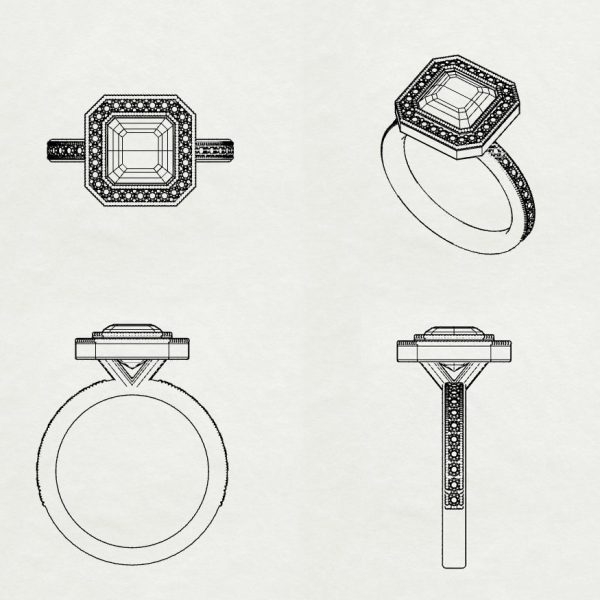art-deco-engagement-ring-sketch unique
