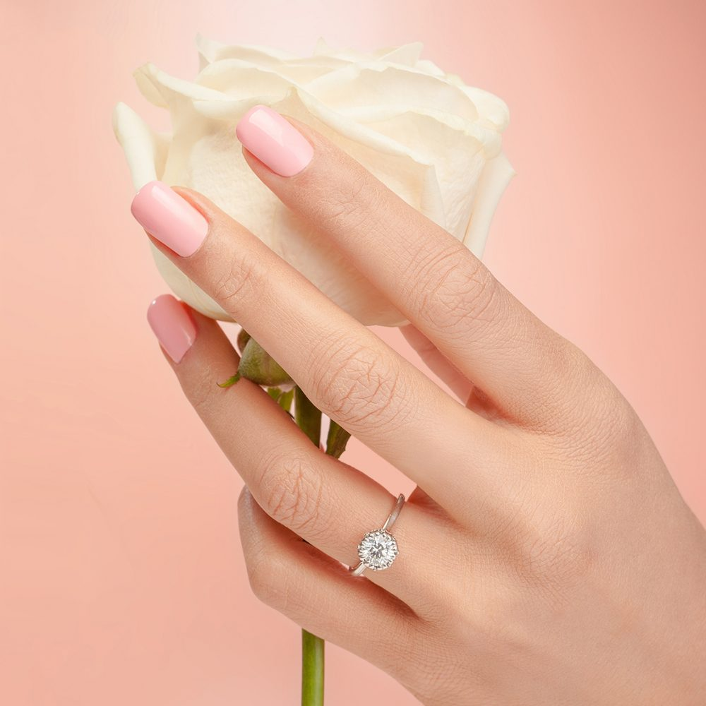 solitaire engagement ring landing page
