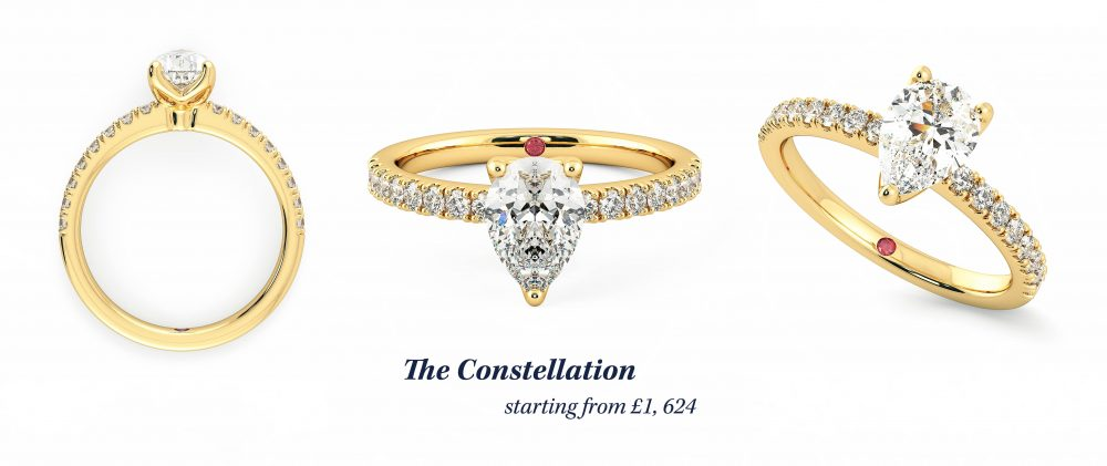 the constellation margot robbie engagement ring