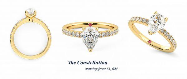 the constellation margot robbie engagement ring