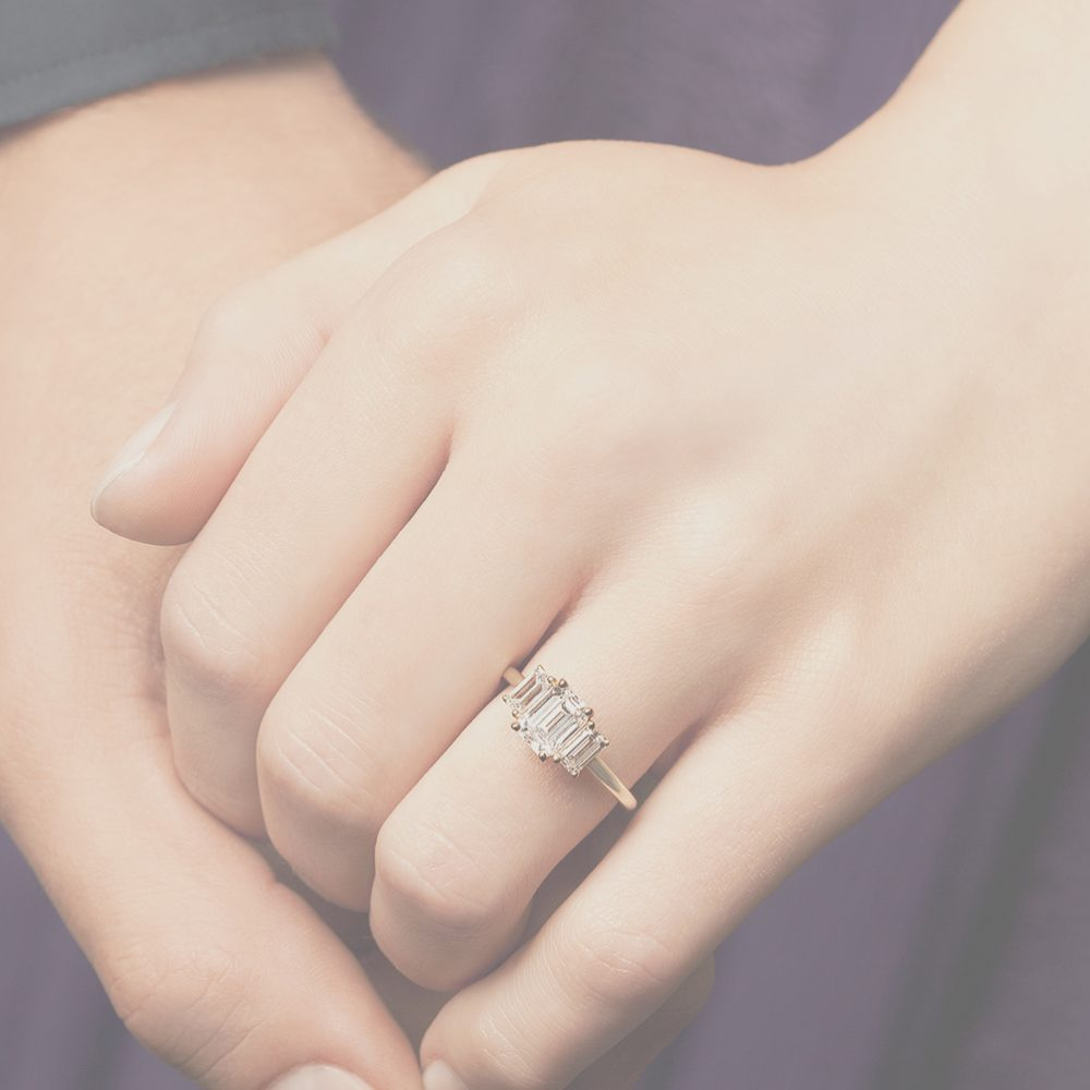trilogy engagement ring landing page