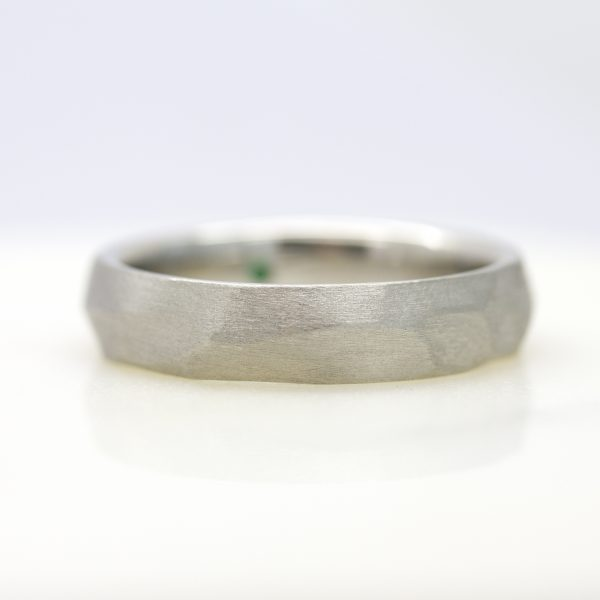satin finished mens wedding band