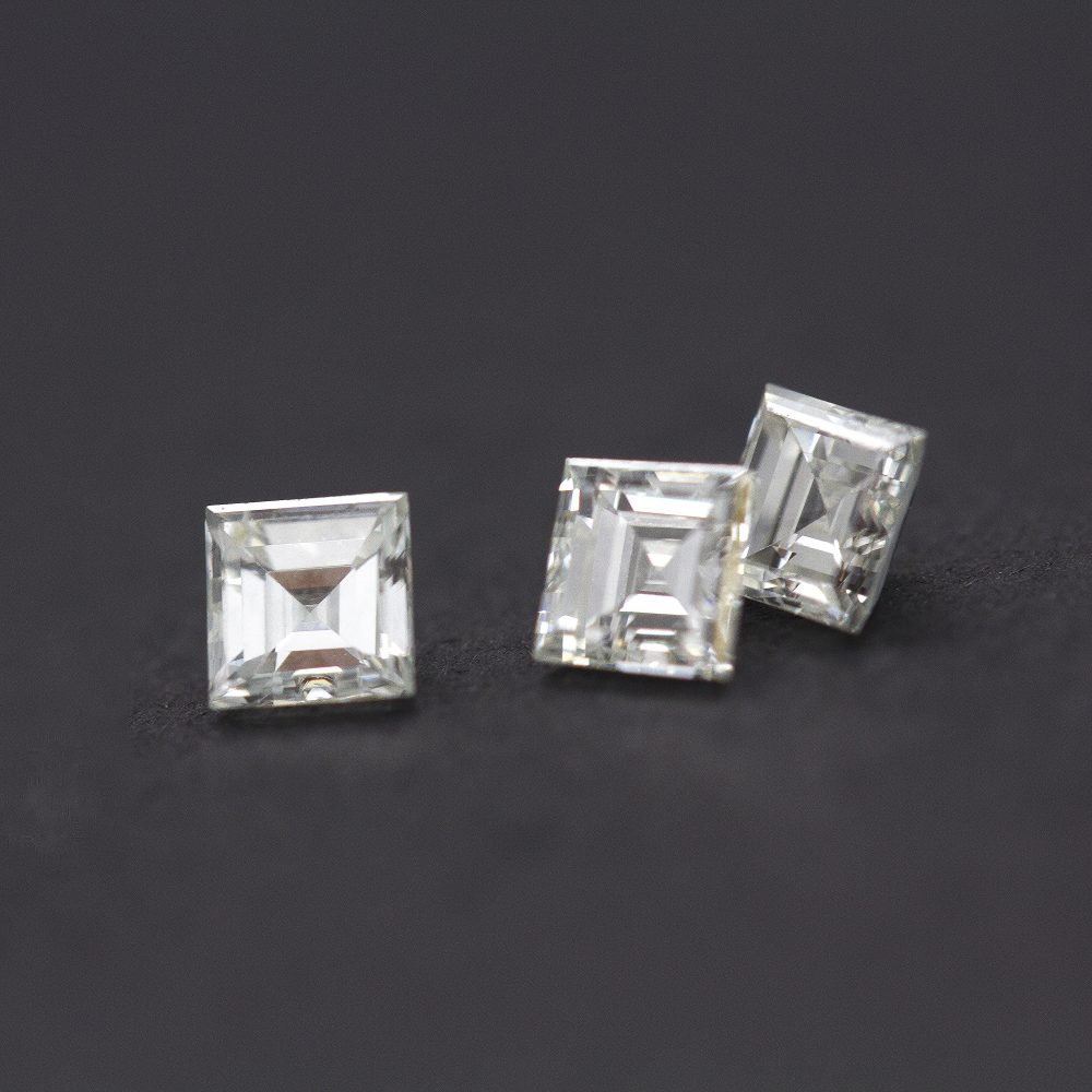 step cut carre diamonds