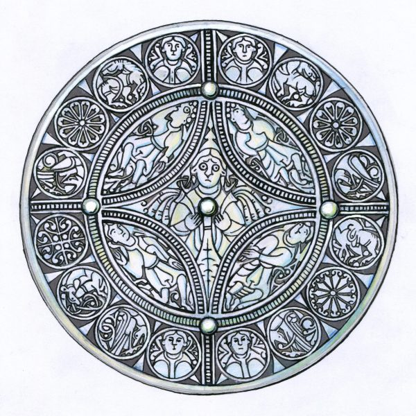 The Fuller Brooch sketch