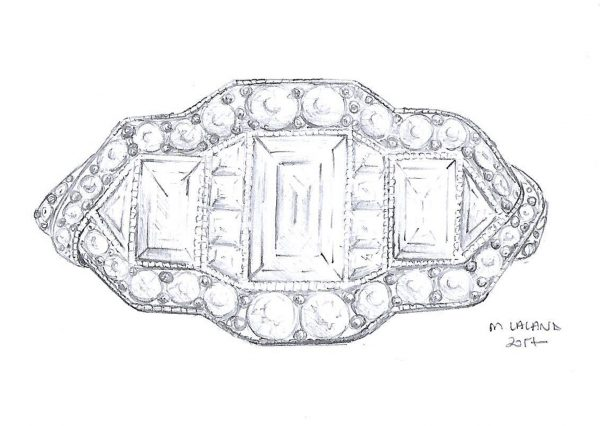 art deco engagement ring design