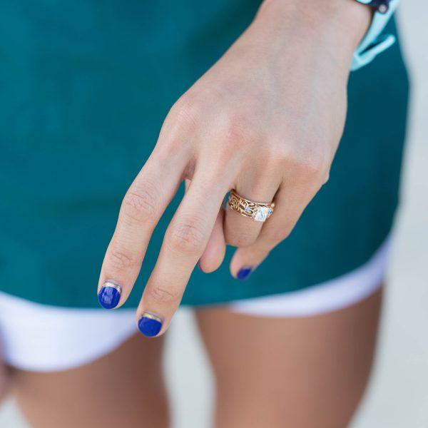 custom radiant cut diamond engagement ring