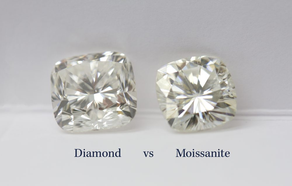 Image result for diamond vs moissanite