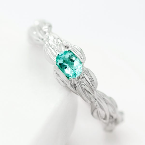 paraiba tourmaline engagement ring 2