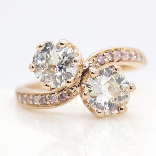 bespoke moi et toi rose gold engagement ring2