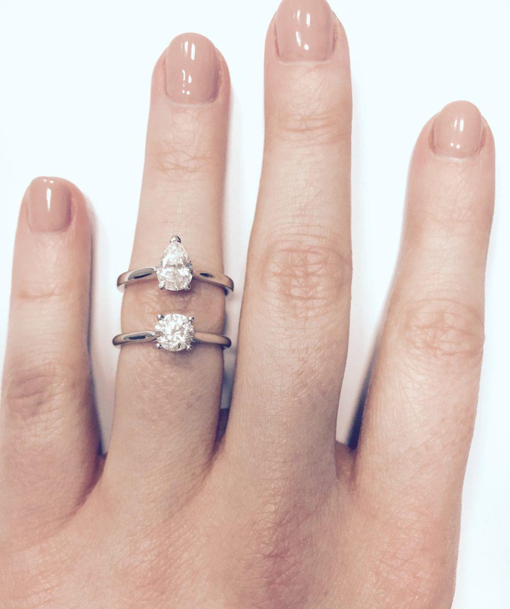 diamond carat weight comparison
