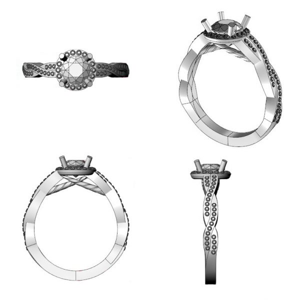 unicorn engagement ring design