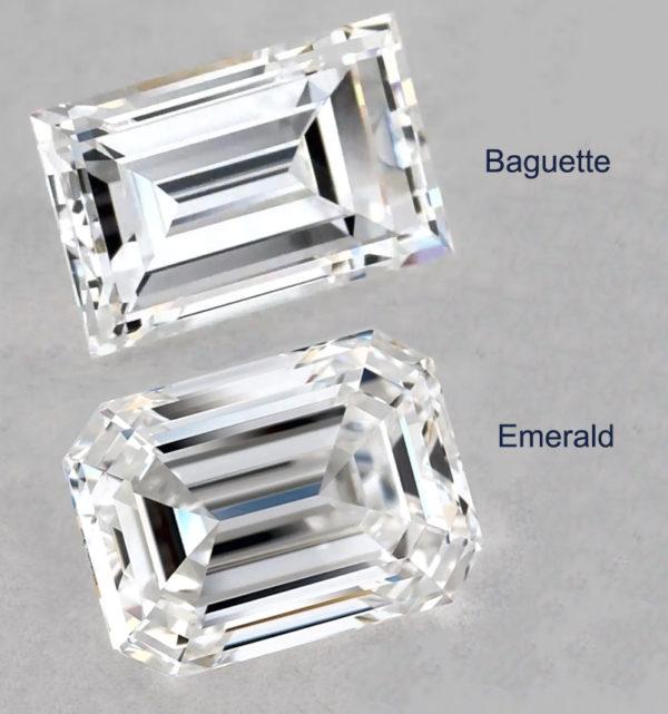 baguette vs emerald cut diamond