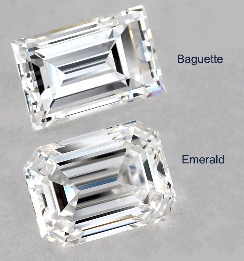 baguette vs emerald cut diamond