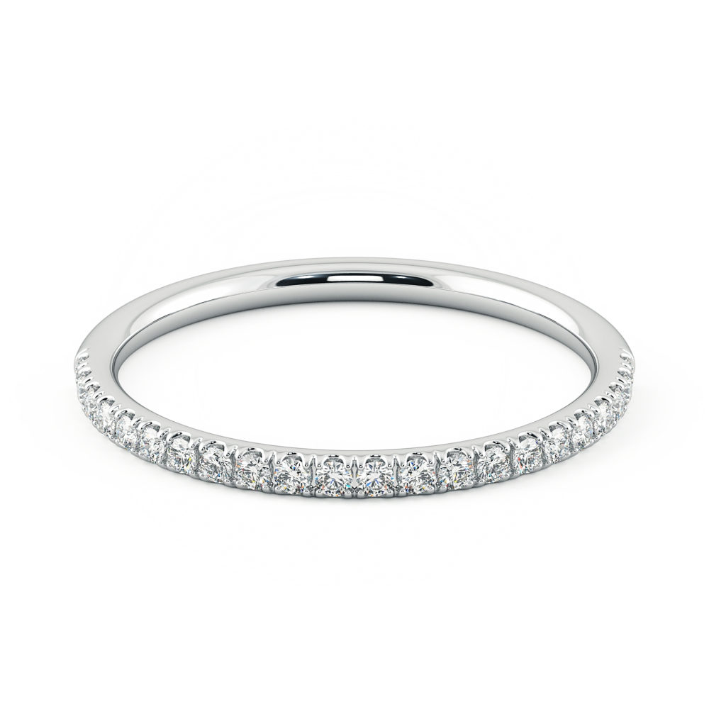Wedding ring diamond pave platinum taylor and hart