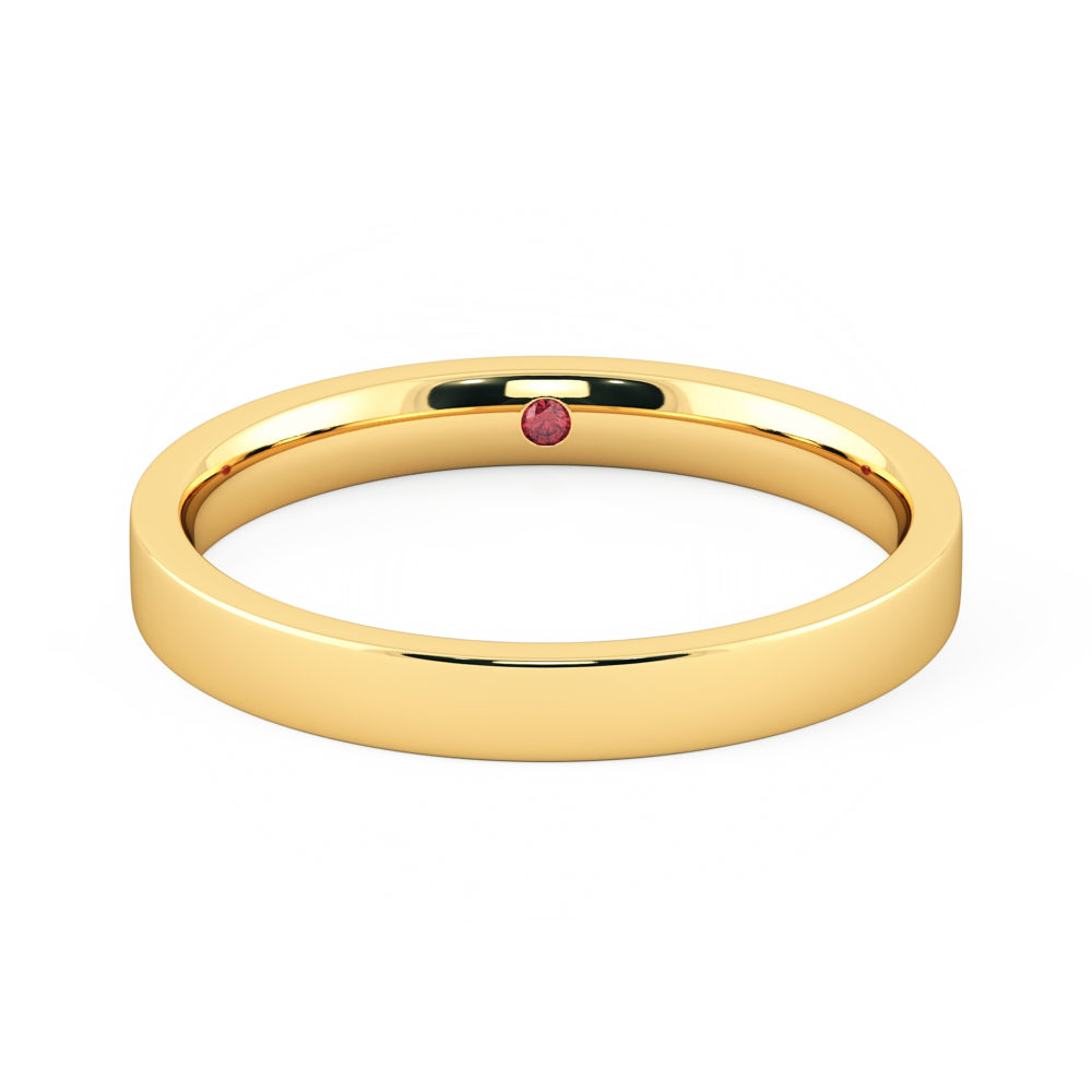 Mens wedding band 3mm yellow gold Taylor and Hart