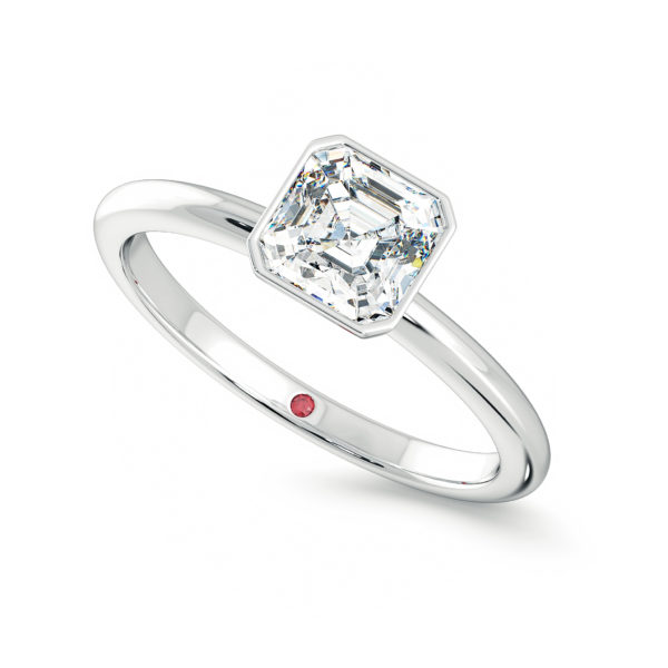 bezel solitaire asscher diamond purity